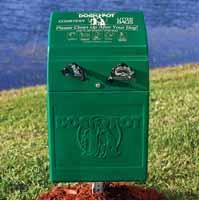 Dog waste / dog park bag holder design using rotational molding