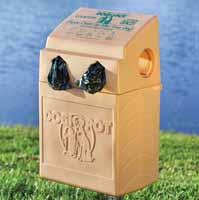 Plastic container design / bag holder rotational molding