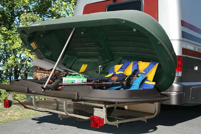 Boat that provides storage / rotomolded plastic boat design