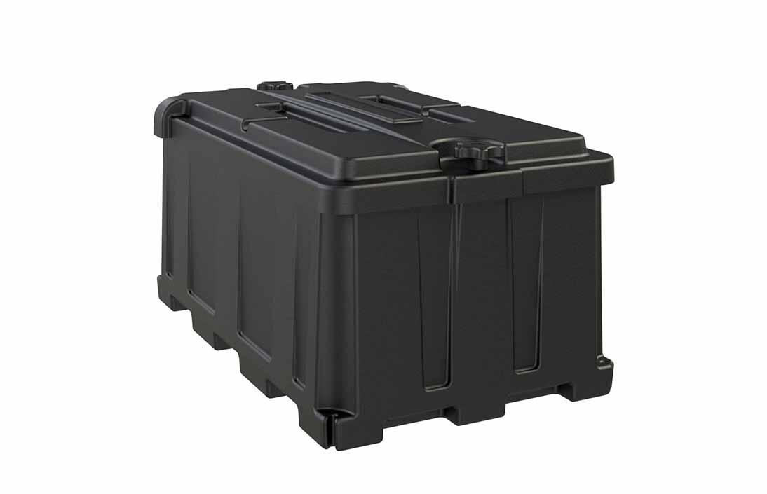Rotationally molded box design
