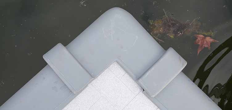 Plastic dock design produced using rotomolding