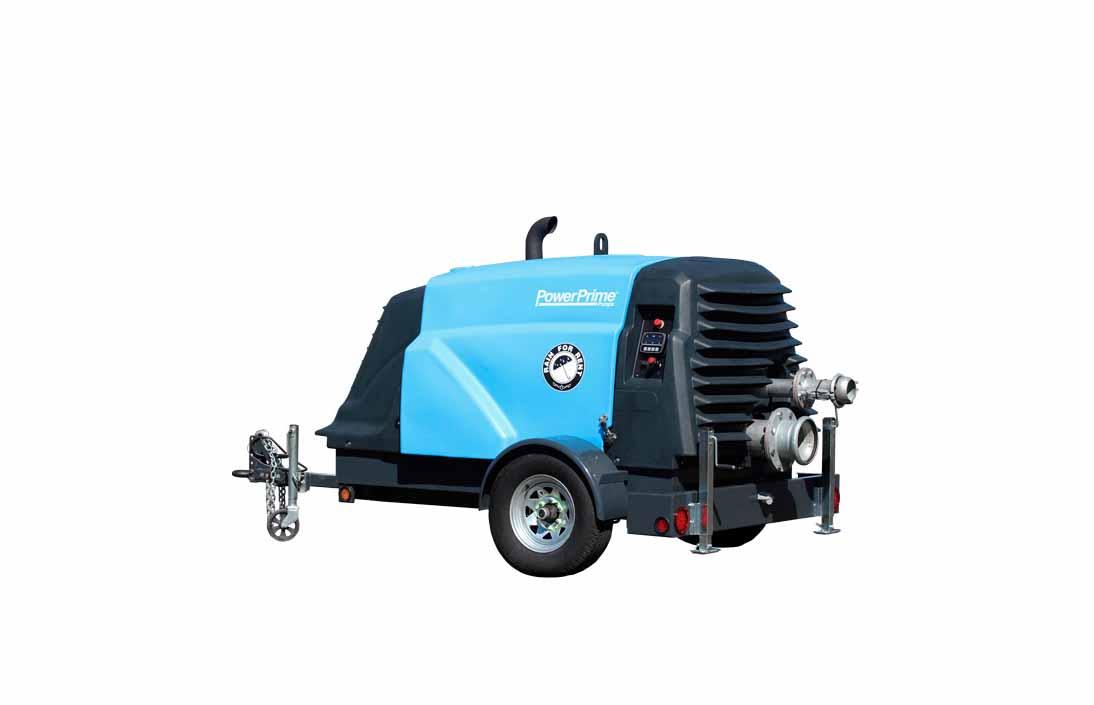 Portable diesel powered  plastic water pump design using rotational molding