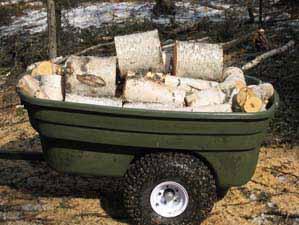 Rotationally molded plastic trailer design for ATV