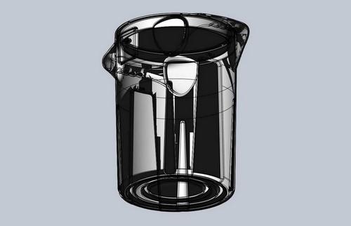 Misting fan cooler tank design using rotational molding