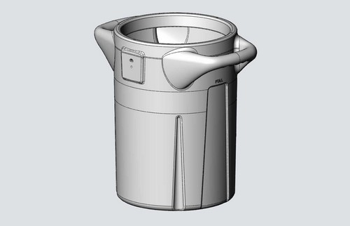 Plastic cooler design using rotational molding