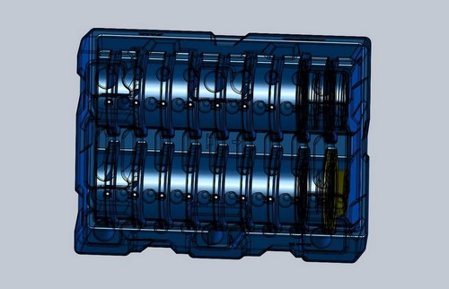 Custom plastic shipping container design using rotational molding