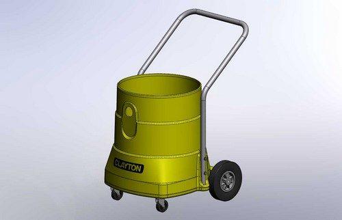 Portable vacuum plastic rotational molding design